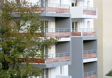 Newly constructed residential appartments Royalty Free Stock Photography