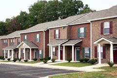 Newly constructed townhomes Royalty Free Stock Images