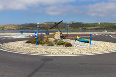 Newly created roundabout in Gruissan Stock Photo
