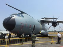 Newly delivered Airbus A400M in LIMA Stock Images
