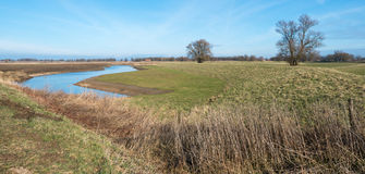 Newly dug ditch in a Dutch polder Royalty Free Stock Images