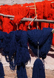 Newly dyed wool Marrakesh Morocco Stock Photo