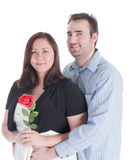 Newly engaged couple Royalty Free Stock Photos