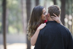 Newly engaged couple Royalty Free Stock Photography