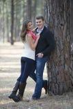Newly engaged couple Stock Photos
