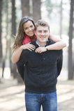 Newly engaged couple Royalty Free Stock Photo