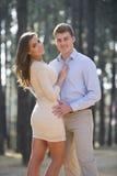 Newly engaged couple Stock Photography