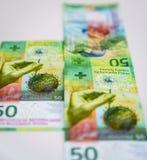 Newly Fifty Swiss Franc bills Stock Photography