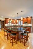 Newly finished kitchen royalty free stock photo