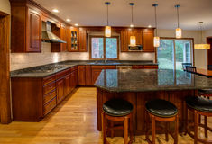 Newly finished kitchen Stock Photo