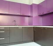 Newly fitted modern kitchen Royalty Free Stock Images