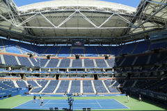 Newly Improved Arthur Ashe Stadium at the Billie Jean King National Tennis Center ready for US Open 2016 tournament Royalty Free Stock Image