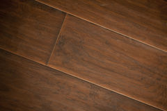 Newly Installed Brown Laminate Flooring. Abstract stock photo