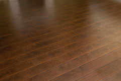 Newly Installed Brown Laminate Flooring in Home. Beautiful Newly Installed Brown Laminate Flooring in Home stock image