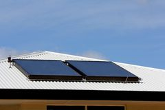 Newly Installed Solar Panels 1 Stock Image