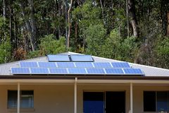 Newly Installed Solar Panels 2 Royalty Free Stock Images