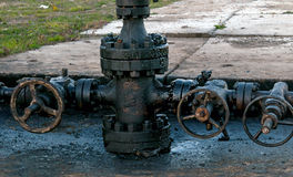 Newly installed wellhead Stock Images