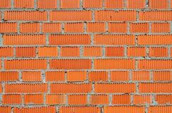 Newly laid brickwork Stock Image
