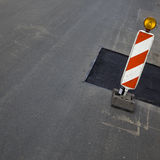 Newly laid tarmac on road Royalty Free Stock Image