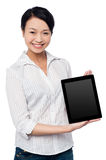 Newly launched tablet device in the market Stock Photos