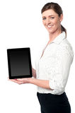 Newly launched tablet device in the market Stock Images