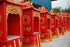 Newly made chinese altar house Royalty Free Stock Images