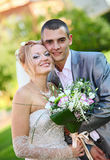 Newly-married couple royalty free stock photos