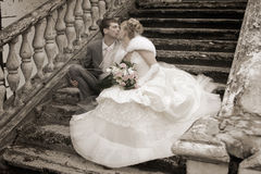 The newly married couple Stock Images