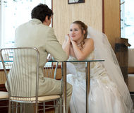 Newly married couple Stock Image