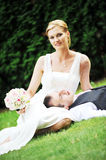 Newly-married couple Stock Images