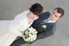 A newly-married couple Royalty Free Stock Images