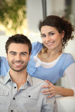 Newly married couple. Newly wed couples enjoying married life Royalty Free Stock Images