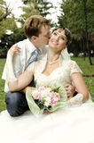 Newly married couple Royalty Free Stock Image
