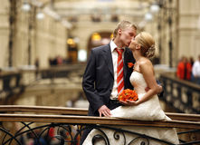 Newly-married couple Stock Image