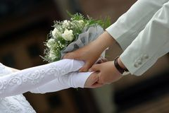 Newly-married couple  Stock Photography