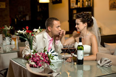 Newly married couple royalty free stock images
