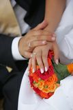 Newly Married Couples Hands Stock Images