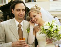 Newly-married Stock Photo