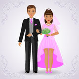 Newly married Royalty Free Stock Photos