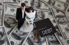 Millennial loan debt Royalty Free Stock Photos
