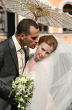 Newly married pair Stock Photography