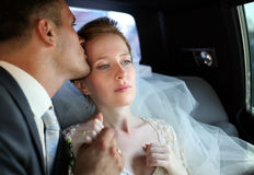Newly married pair Stock Photos