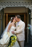 Newly married pair Stock Image