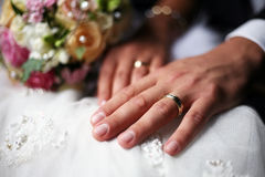 Newly married pair Stock Photo