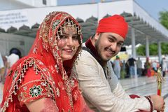 Newly Married Sikh Couple Royalty Free Stock Images