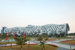 The newly opened Kaohsiung Exhibition Center during the 2014 Taiwan International Boat Show Stock Image
