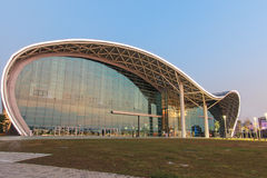 The newly opened Kaohsiung Exhibition Center during the 2014 Taiwan International Boat Show Stock Images