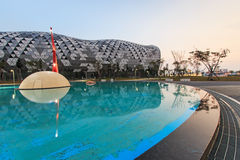 The newly opened Kaohsiung Exhibition Center during the 2014 Taiwan International Boat Show Royalty Free Stock Photos