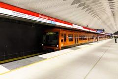 Newly opened subway in Matinkyla, Finland Stock Photos