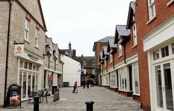Newly opened Whittons Lane in Towcester royalty free stock photography